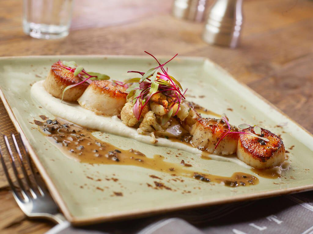 plate of scallops best restaurants in Summerlin