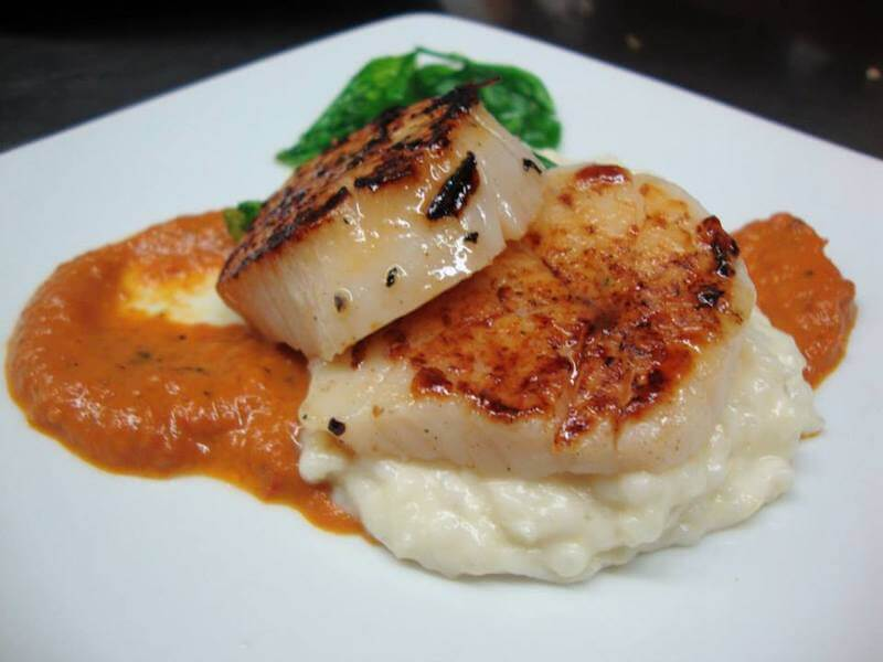 seared scallops best seafood St Augustine