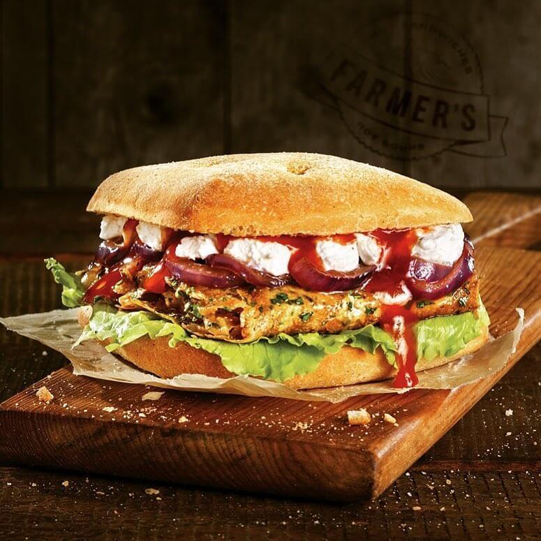 Where to Eat in Sofia, Bulgaria – Farmers - Roasted Vegetable Sandwich