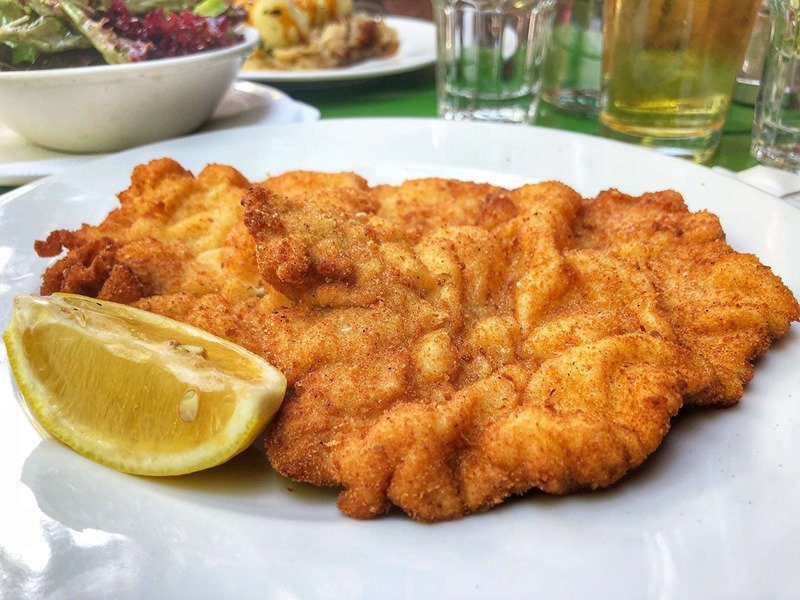 Where to Eat in Vienna Austria - Must Try Restaurants - Cafe Anzengruber - Schnitzel