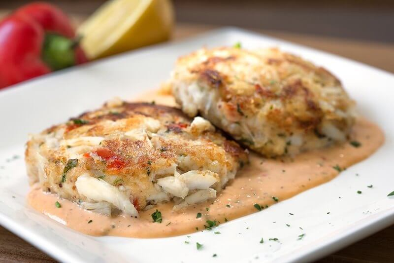two crab cakes St Augustine dining