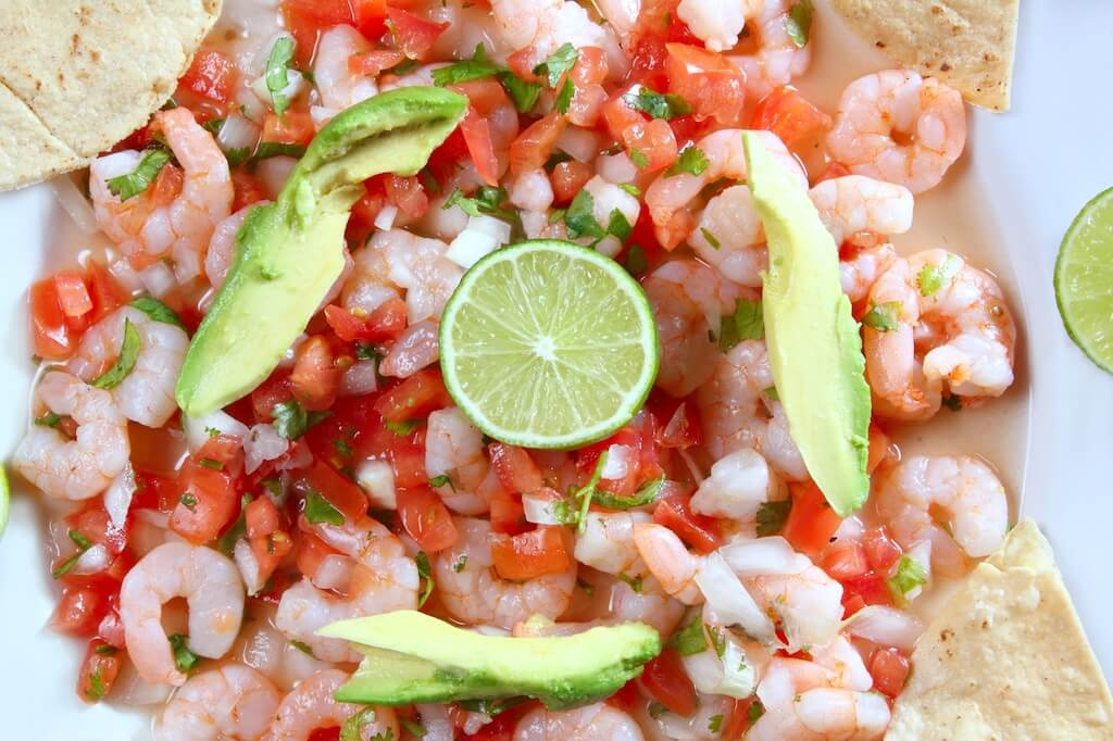 ceviche mixto Holbox seafood restaurant