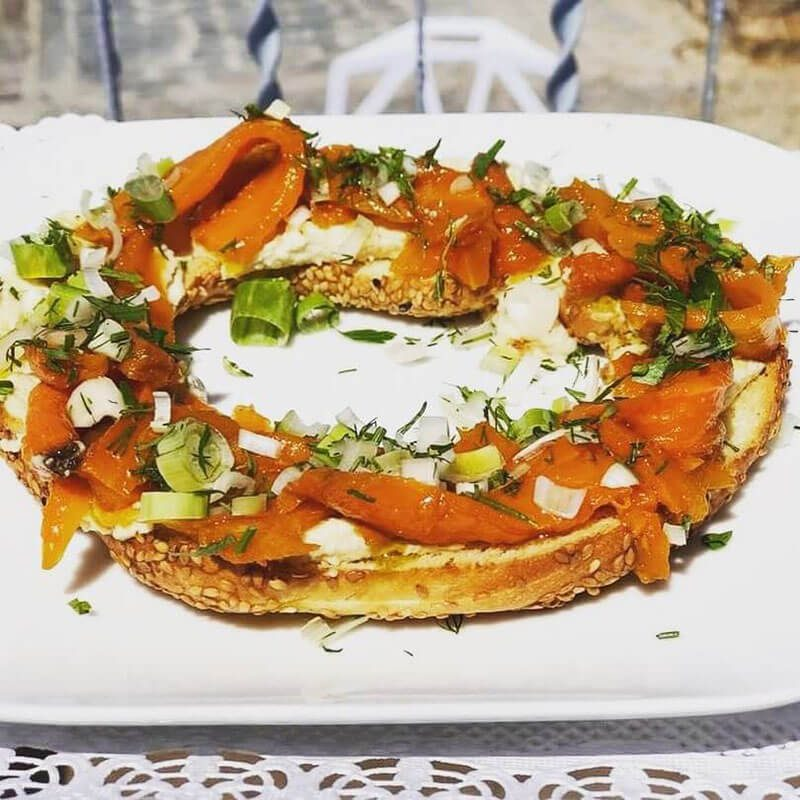 The 10 Best Chania Restaurants - Where to Eat on Chania, Crete, Greece - Pulse - Carrot Lox with Cashew Cream - Vegan