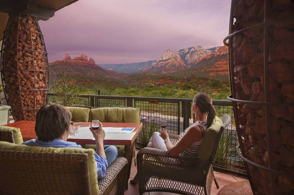 Sedona restaurants with a view