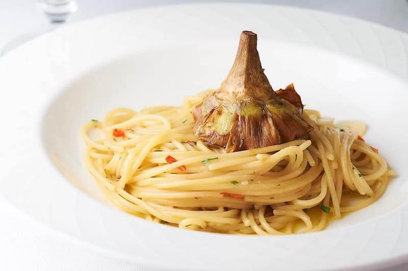 pasta with roasted garlic