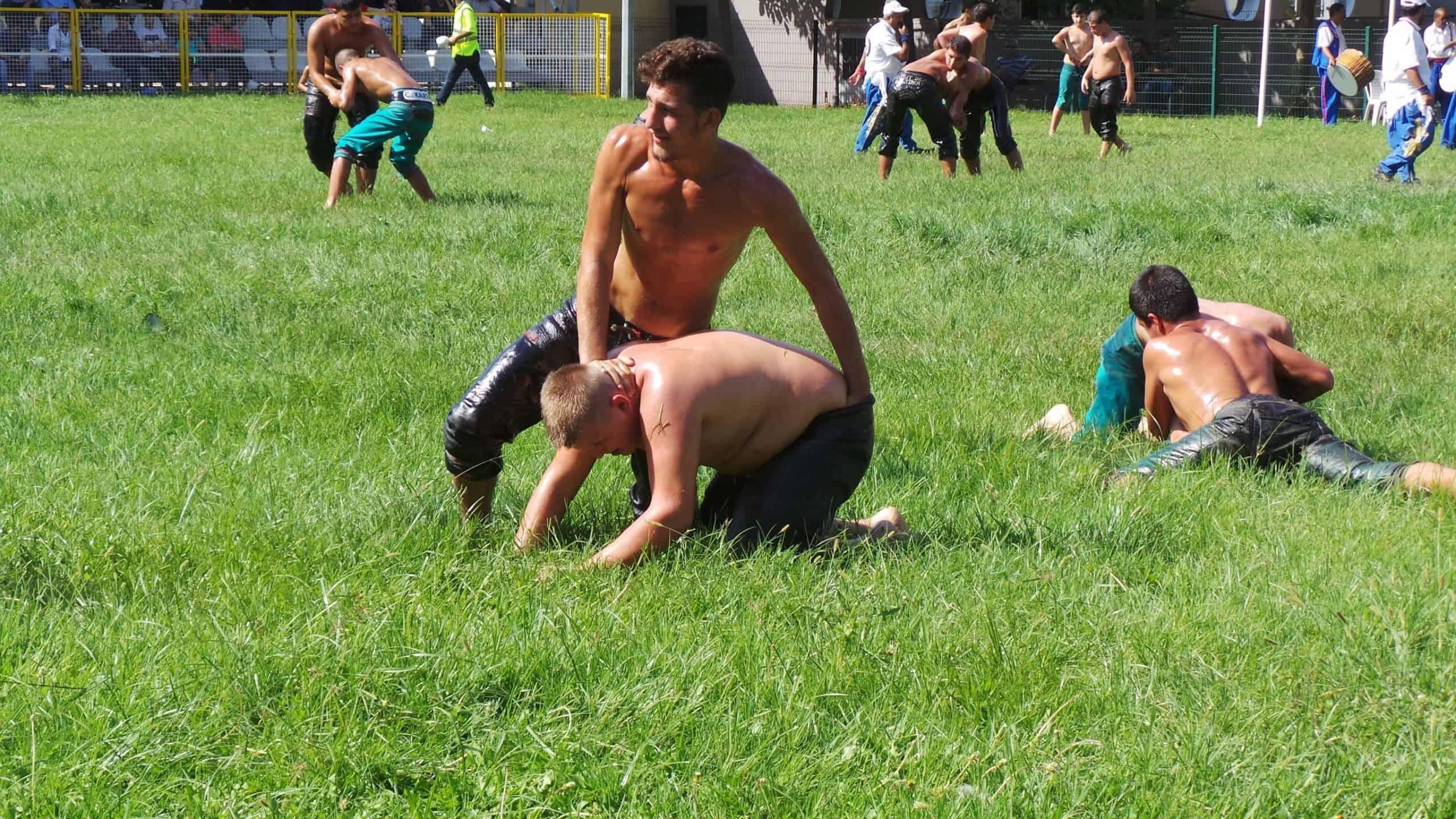 turkish oil wrestlers