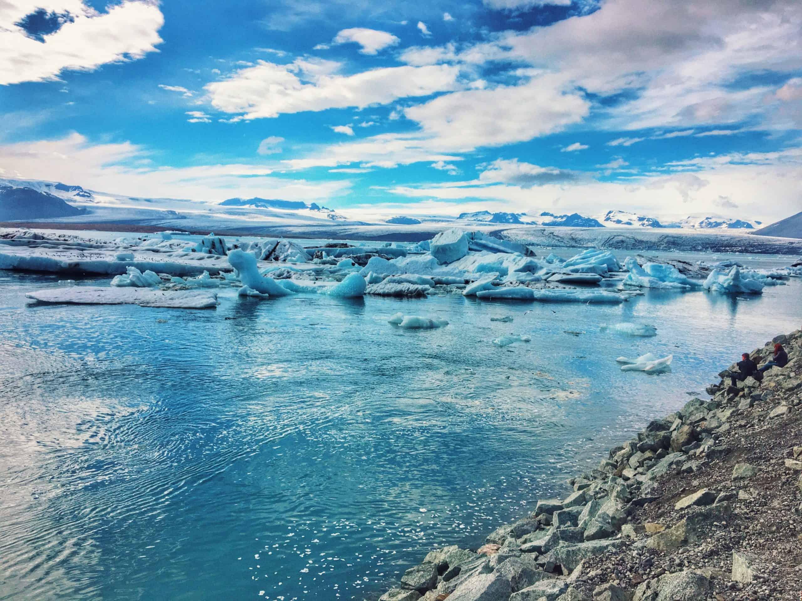 Jökulsárlón, glacial lagoon of Iceland