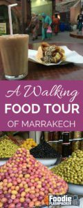 The highlight of my time spent in Marrakech was definitely the walking food tour I took with Marrakech Food Tours. My favorite thing about the tour is that we visited places I know that I would not have discovered on my own. Places that maybe only locals  know about. Places where the language barrier would have prevented me from ordering. Places that don't have menus in English. Real, authentic Moroccan eateries with delicious traditional foods that I likely wouldn't have found or tried on my own.