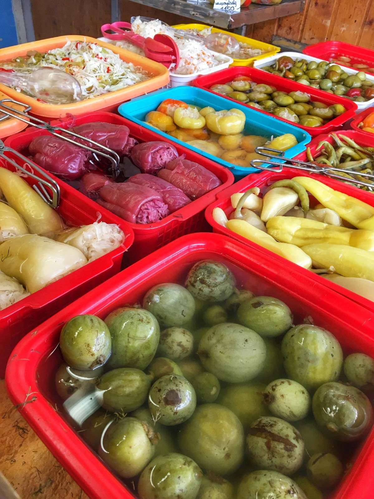 Variety of Pickled Foods - Click to see the tour - Join Taste Hungary for their Buda Food Walk to learn more about the interesting history of the city and try the unique food.