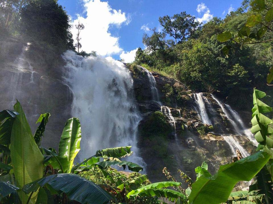 Waterfalls - Just two hours outside of busy Chiang Mai is Doi Inthanon National Park. The park is home to some of the countries most stunning scenery, several caves, gorgeous waterfalls, and the highest mountain in Thailand.