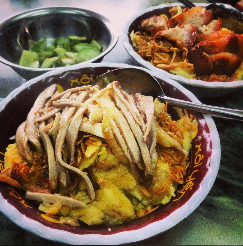 Xoi Xeo - Must Eats in Hanoi, Vietnam