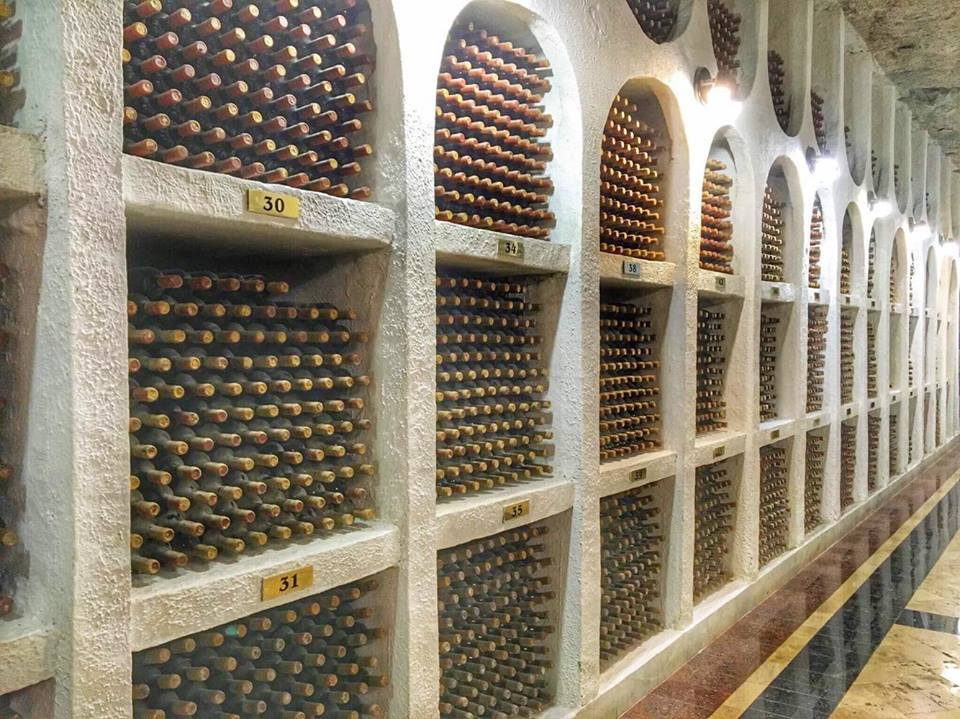 The shelves at Cricova Winery are labeled by numbers assigned to the owners and each bottle is carefully maintained by the staff.