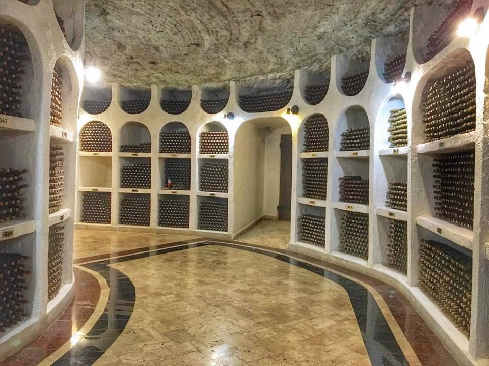 The massive labyrinth also holds the impressive wine collections of celebrities and major political figures.
