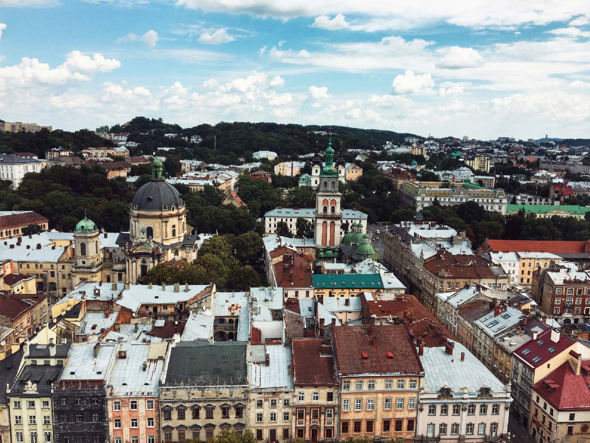 aerial view of lviv ukraine - I kept hearing how great Lviv was. I didn't visit many other cities in Ukraine, but it was immediately apparent Lviv was different.