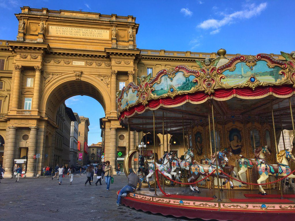 carousel Piazza della Repubblica - How to experience Florence, Italy in 24 hours.