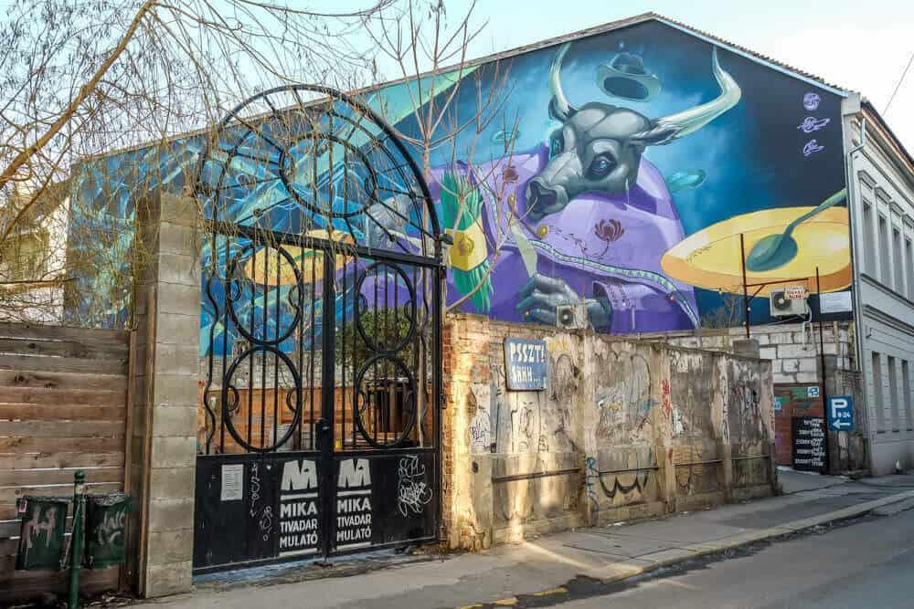 street art in Budapest Hungary
