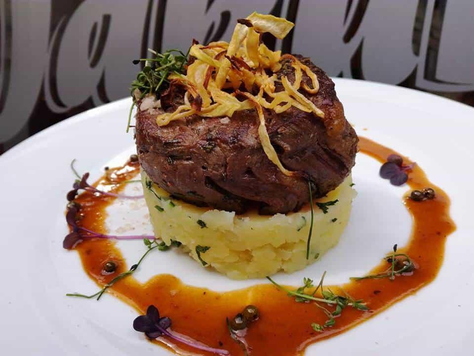 beef cheeks over potatoes Best Cesky Krumlov restaurants