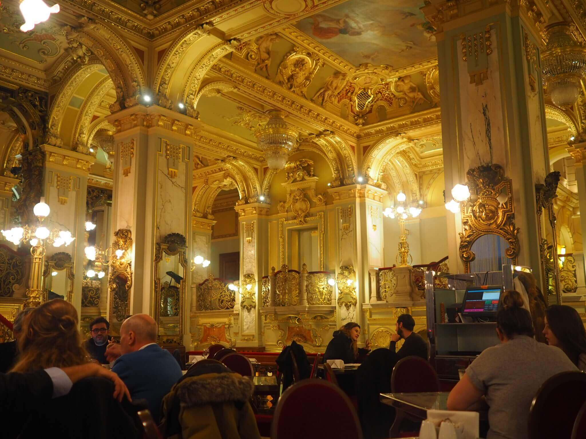 New York Cafe interior best things to do in Budapest