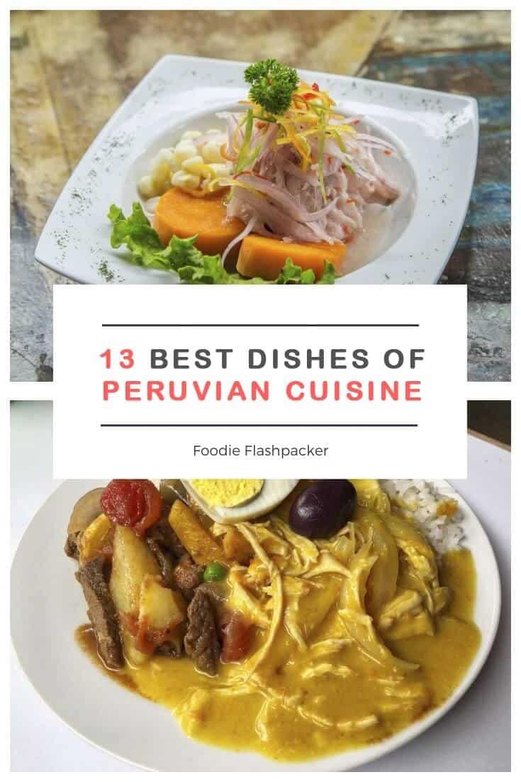 Peruvian cuisine peruvian food