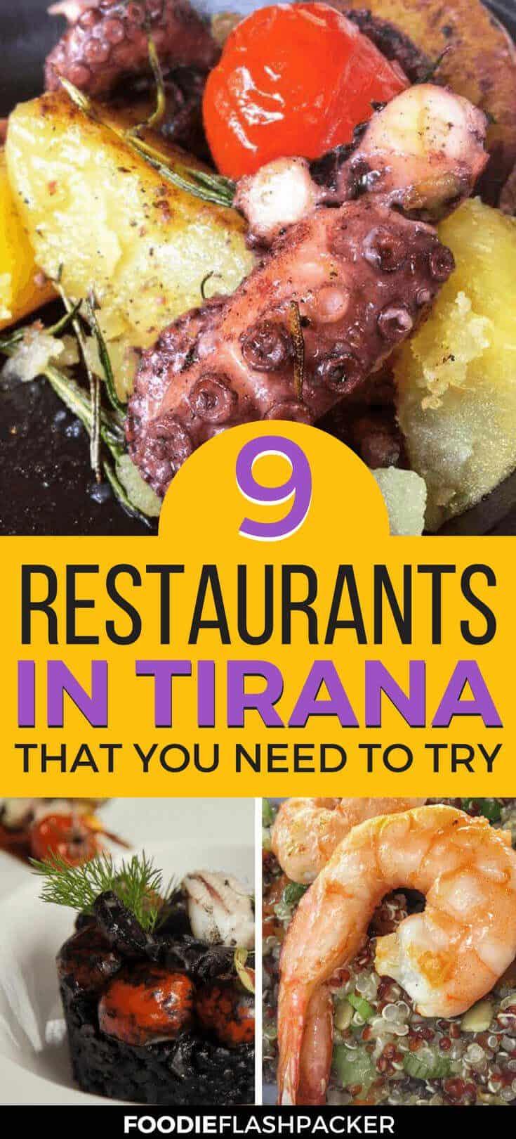 The best restaurants in Tirana, Albania