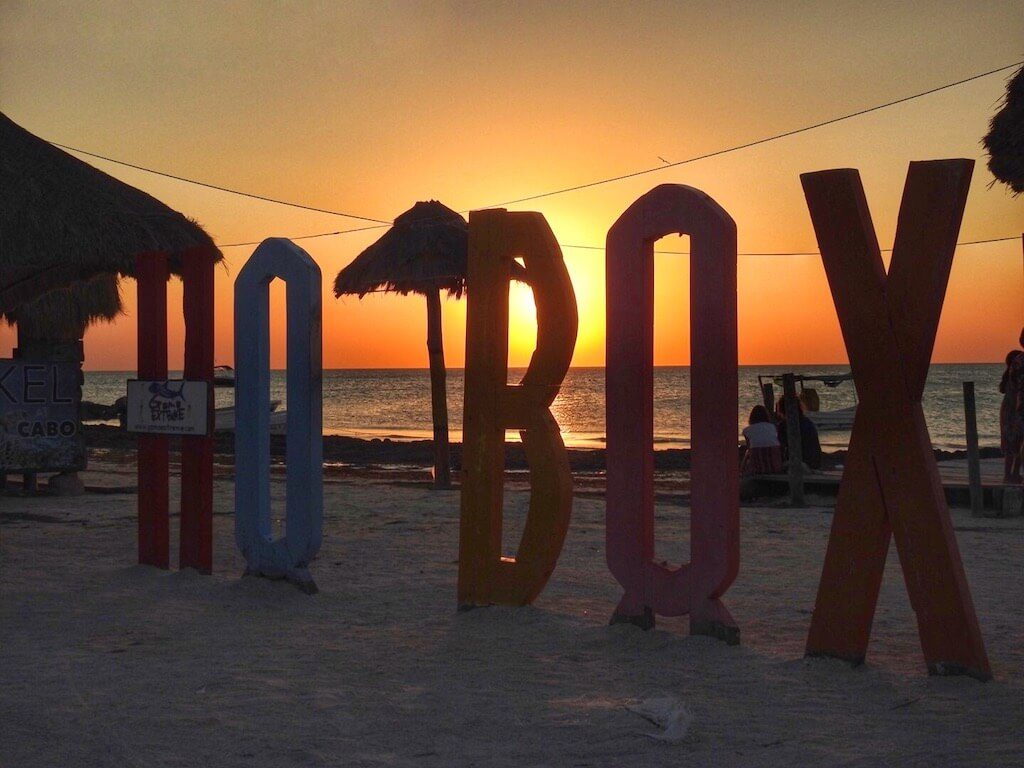 sunset on Holbox Mexico