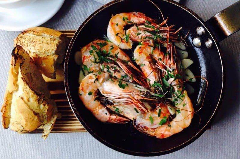 The 17 Best Restaurants in Warsaw, Poland | Must-Try Warsaw Restaurants - Maka i Woda - Larc Vasovie - Roasted Shrimp