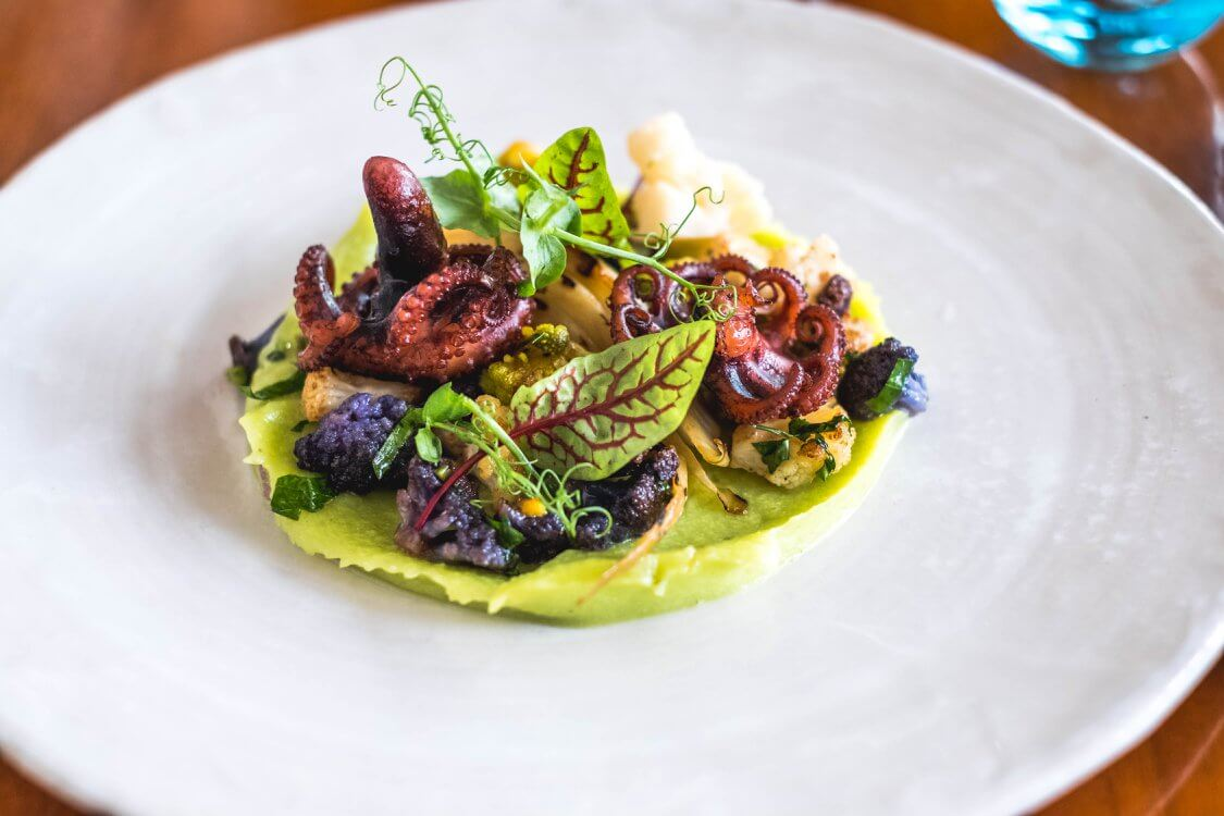 Where to Eat in Vienna Austria - Must Try Restaurants - Motto - Octopus Appetizer