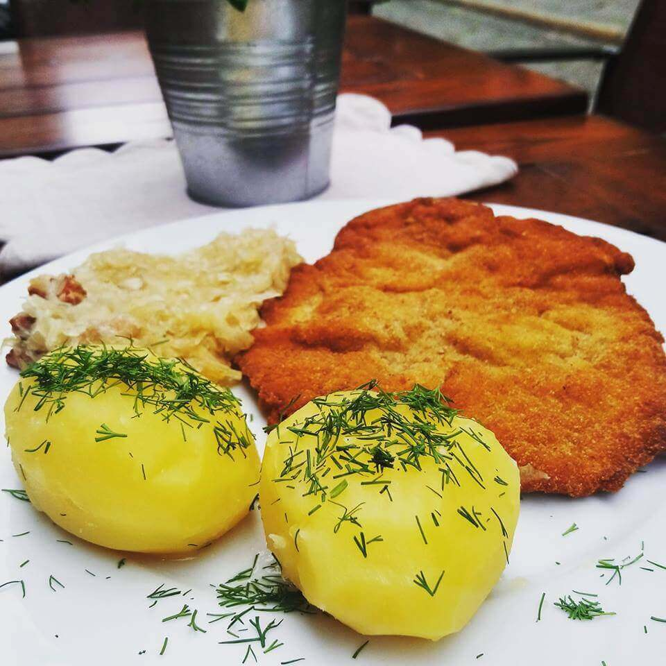 Must Try Poznan Restaurants - Where to Eat in Poznan, Poland - Wiejskie Jadlo - Pork Cutlet and Potatoes