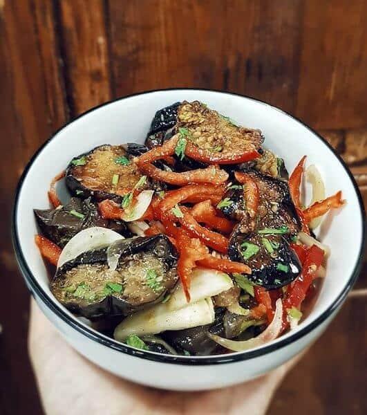 eggplant salad Georgian restaurant Tbilisi