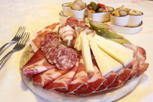 charcuterie plate with speck