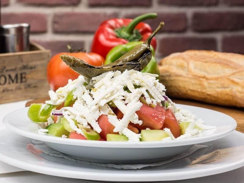 shopska salad Bulgarian food