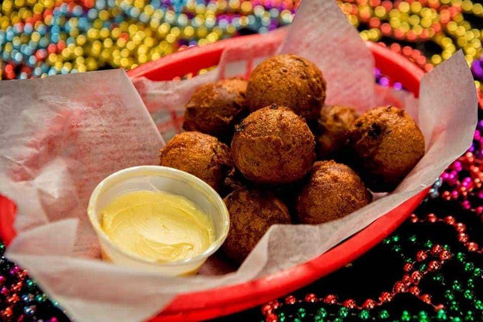 basket of fried boudin balls