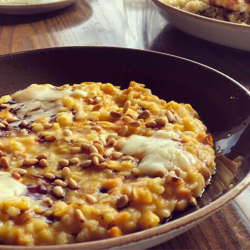 lentil and cheese dish
