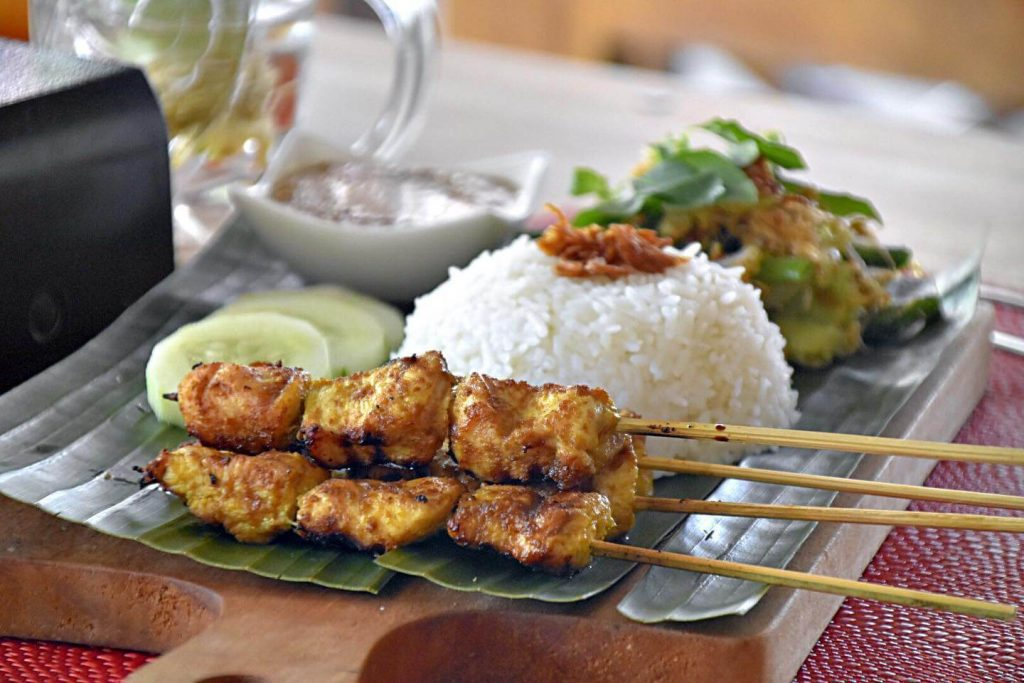 Indonesian chicken and rice