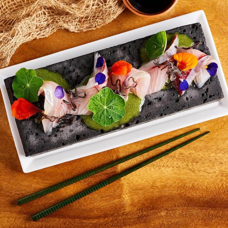 plate of sashimi