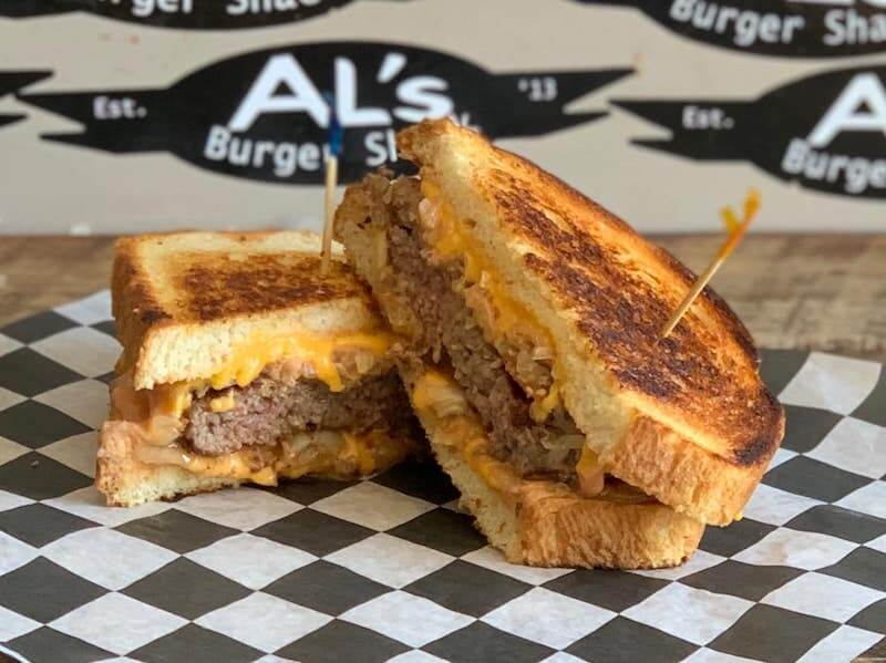 grilled beef and cheese sandwich