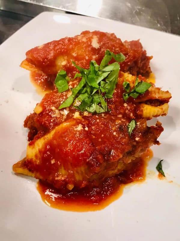 stuffed shells with red sauce