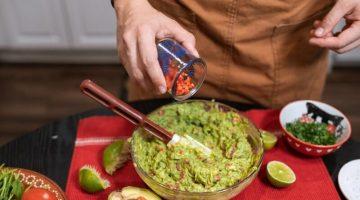 guacamole being prepared tableside