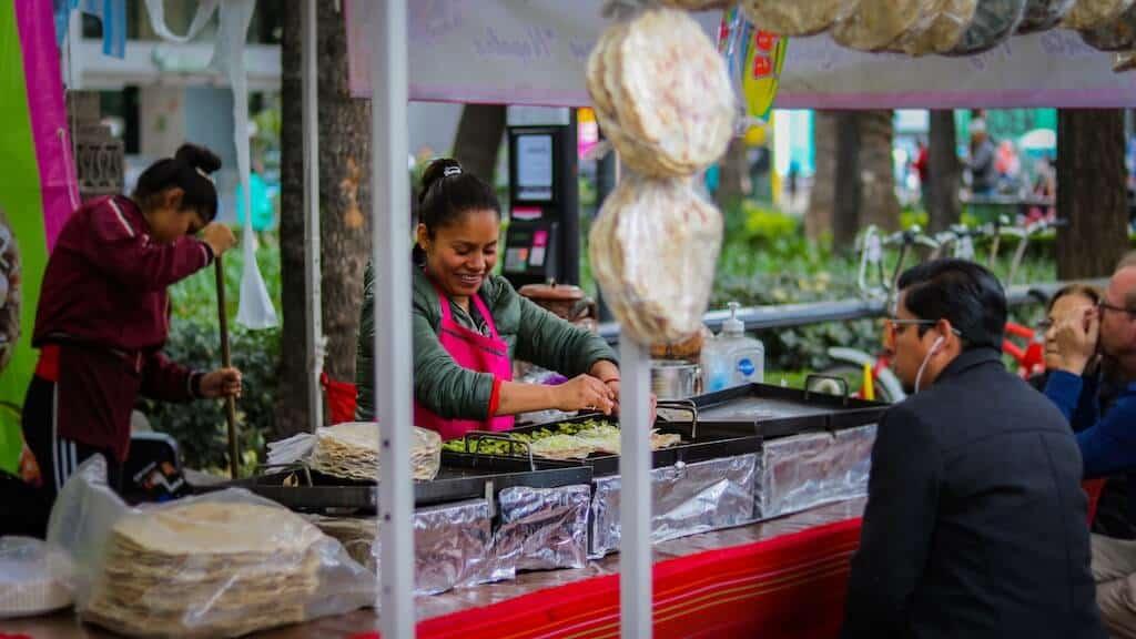 Cozumel street food market