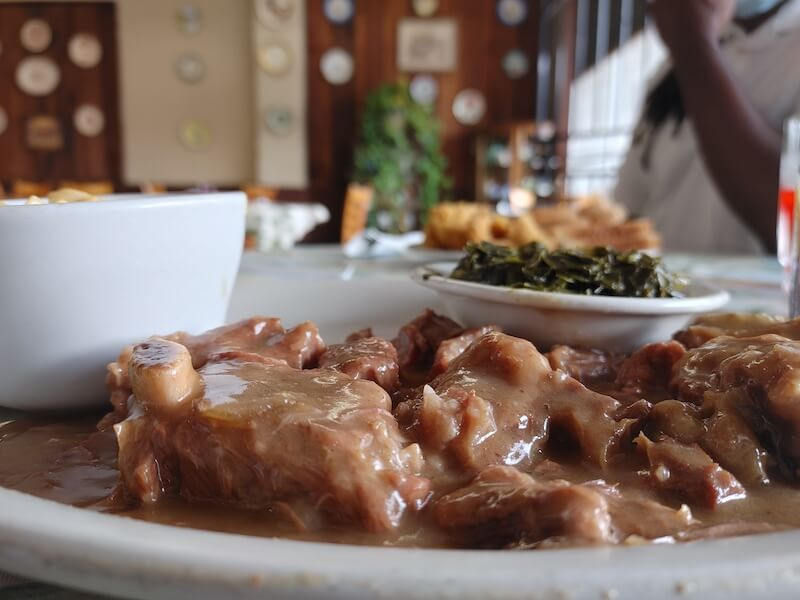oxtail with greens
