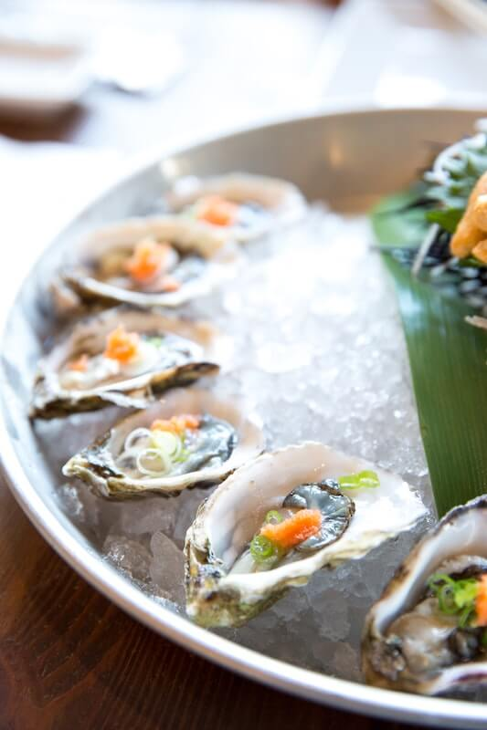 oysters on the half shell over ice