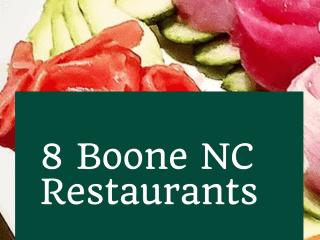 8 Boone NC Restaurants Worth a Visit