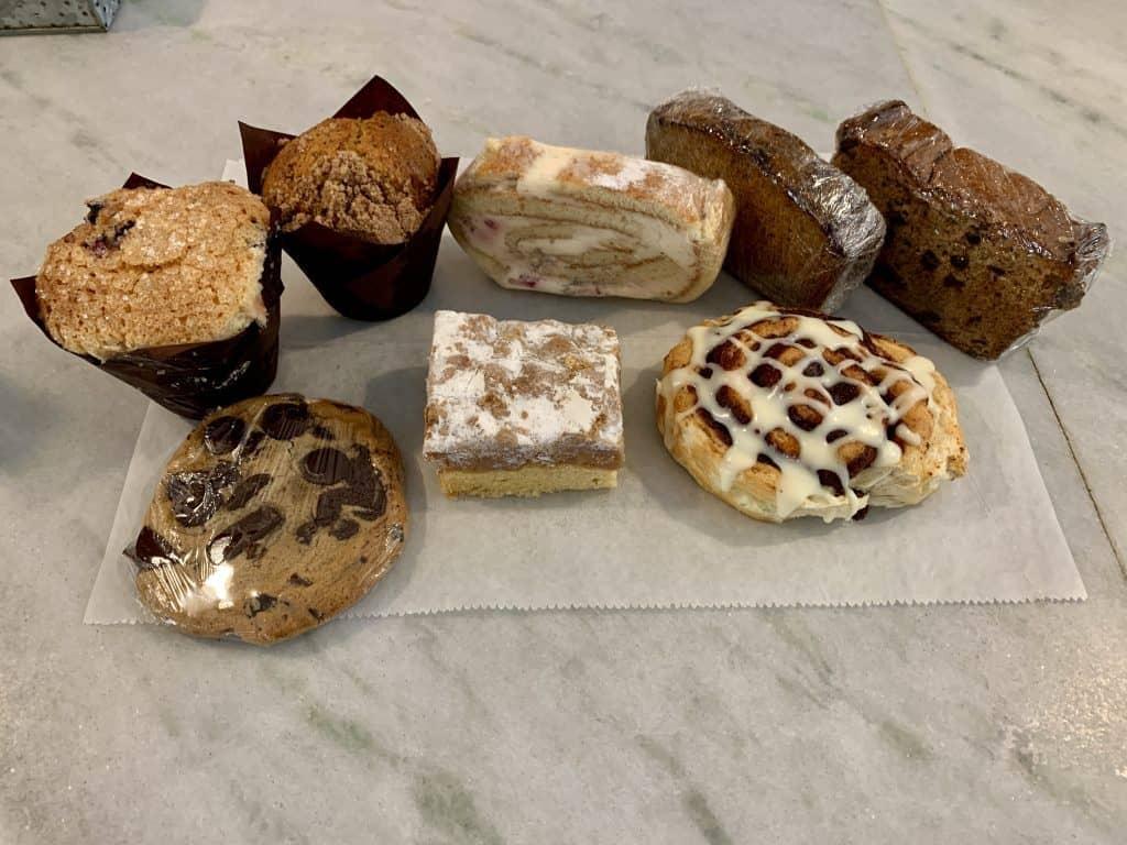 Eleven Great Restaurants On Daniel Island:    Display of Pastries