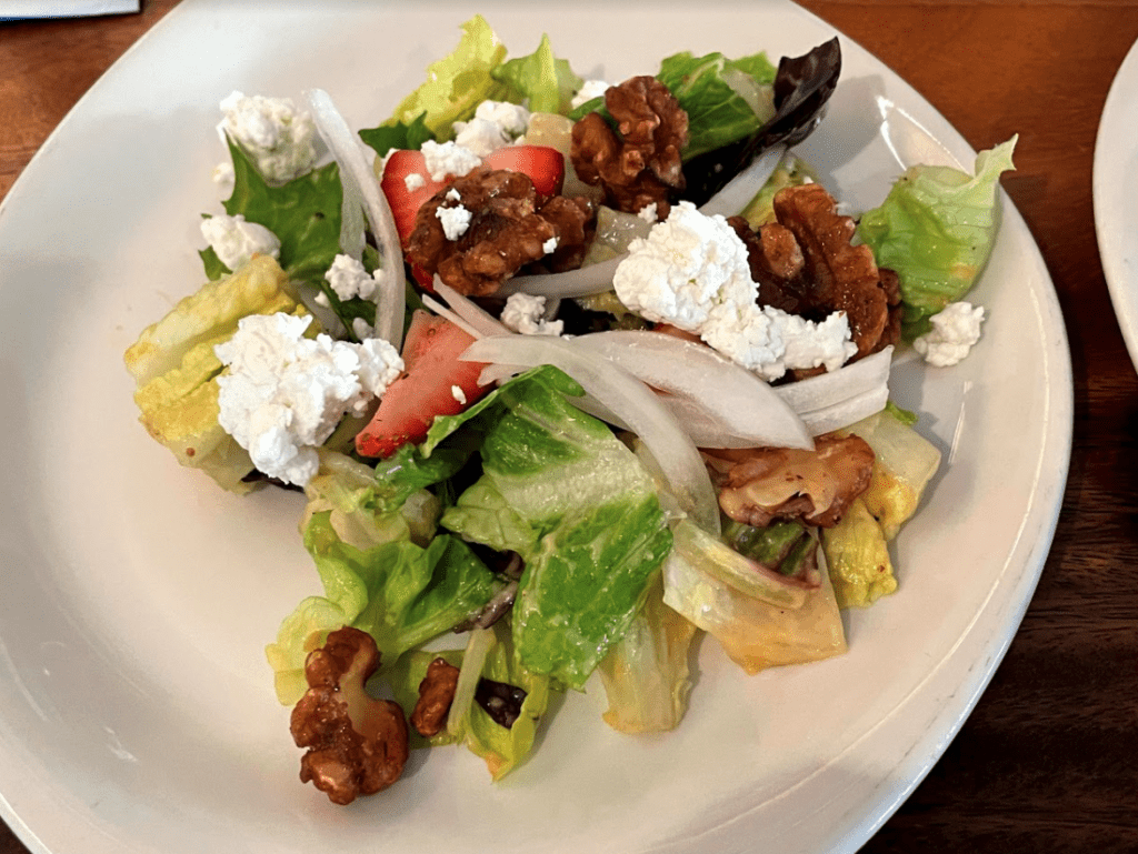 Leilanis Maui Fresh Salad is one of the best salads you can find in Lahainas restaurants