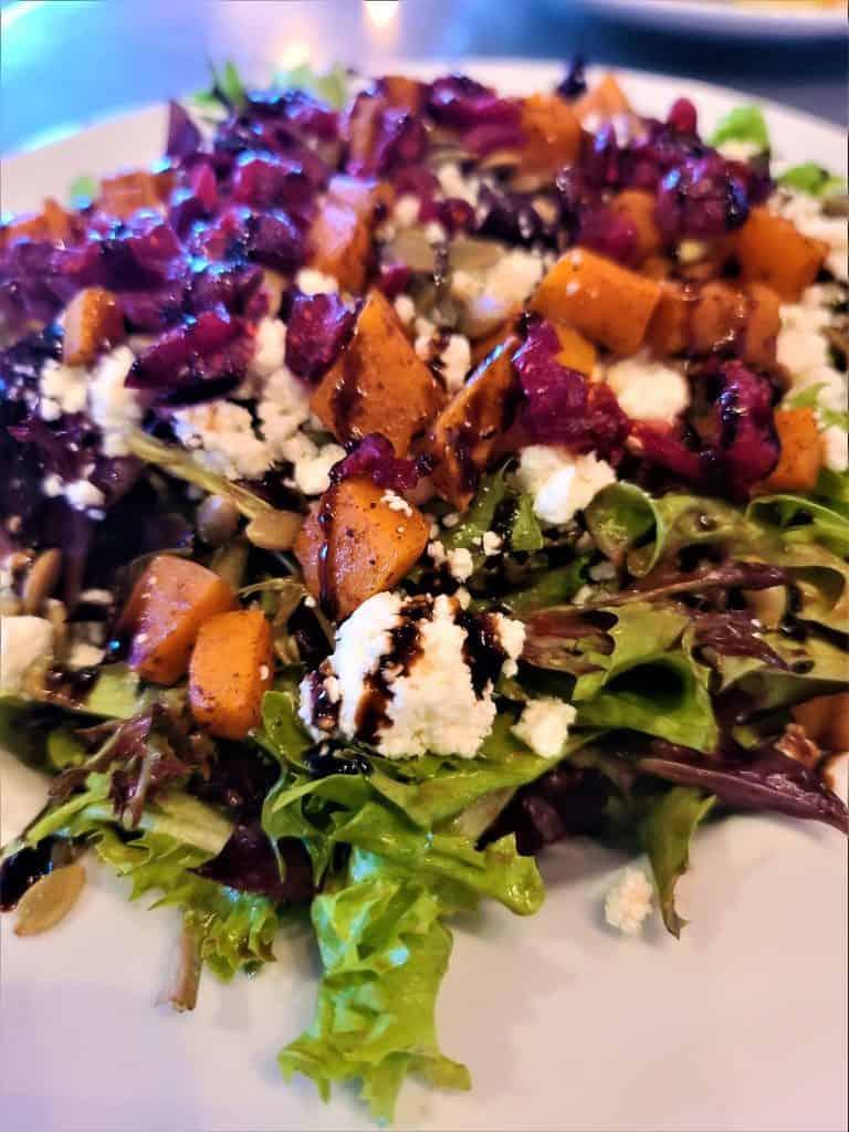 The Best Stowe VT Restaurants:  Pumpkin Spice Salad