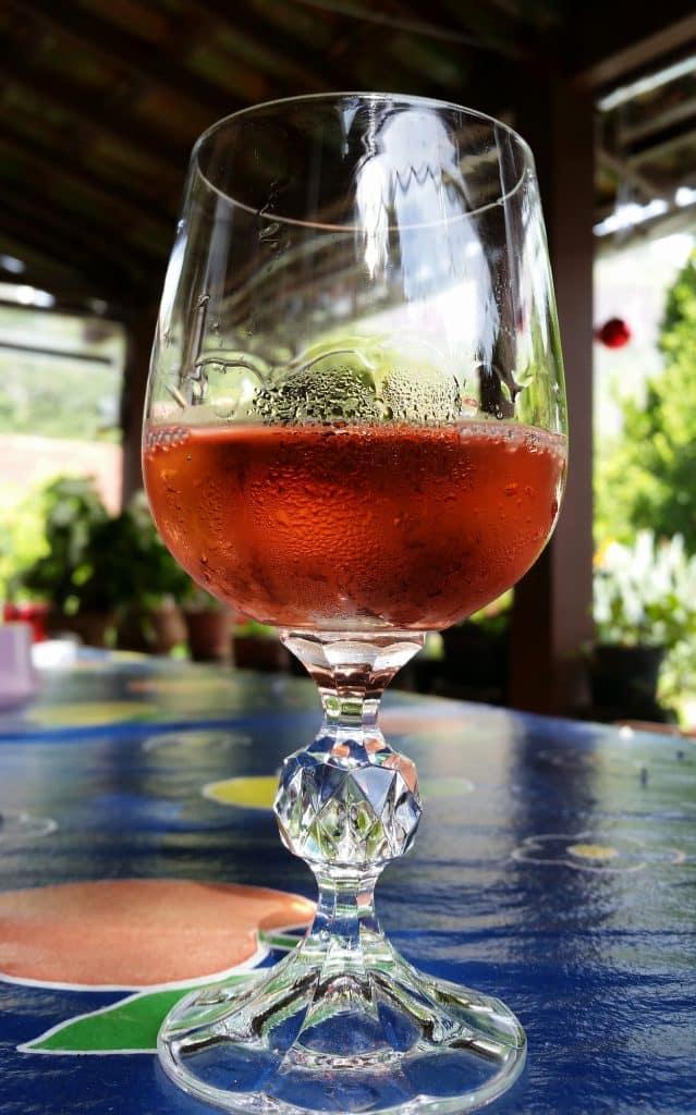 9 Must-Try Visalia Restaurants: a glass of Rosé wine