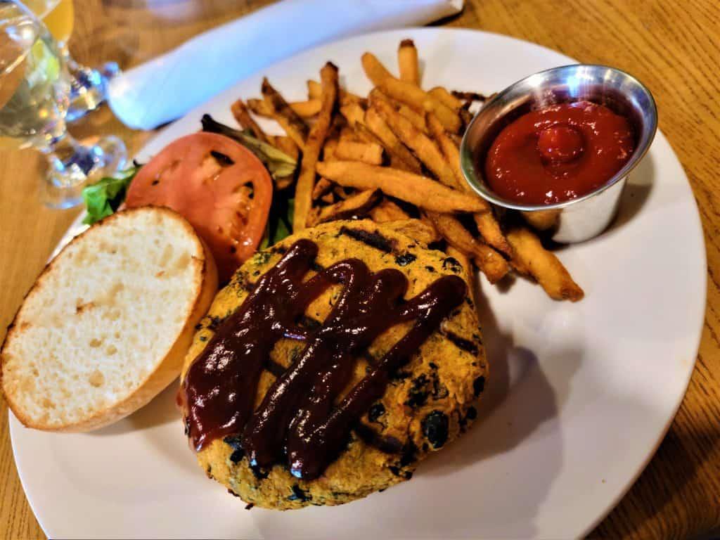 The Best Stowe VT Restaurants:  Sweet Potato Burger