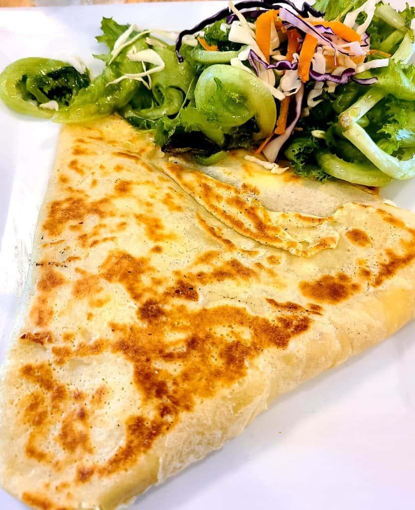 The Best Stowe VT Restaurants:  Veggie Crepe