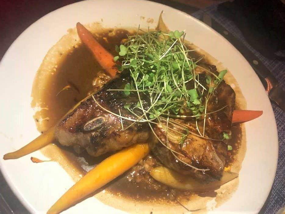 7 Best St. Thomas Restaurants: Berkshire Porterhouse Grilled Pork Chop