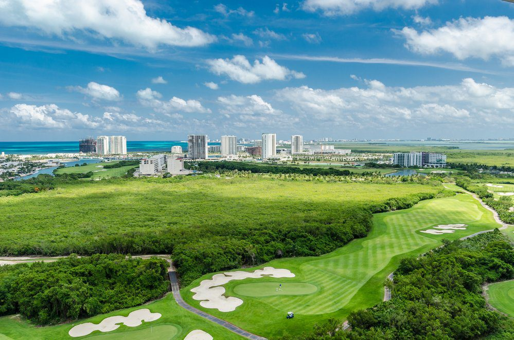 Golf course in Cancun